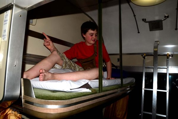 Neil in Sleeper train