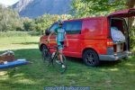 Camper van cycling road trip France
